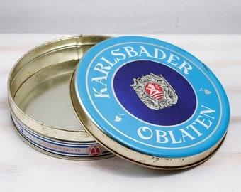 Vintage Rare Karlsbader Oblaten Metal Thin Case Box Collectible Czechoslovakia box Wedding Memory Netherlands Jewelry Organizer, ohtteam,