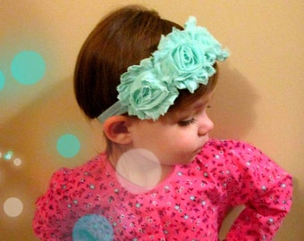 Triple Shabby Headband in Any Color! Newborn, Infant, Toddler, Teen and Adult Headband