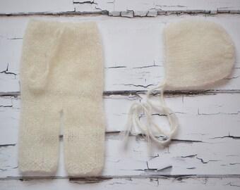 Bonnet & Pants Pattern, Mohair Bonnet Pattern, Mohair Pants Pattern, Newborn Size, Erlend
