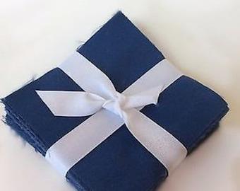 "100 Admiral Blue  Moda  pre cut charm pack 5"" squares 100% cotton fabric quilt"