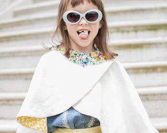 Girls Cape winter girl coat childs winter cape tween cape