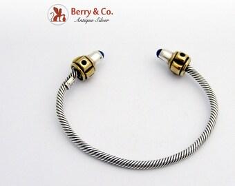 Sterling Silver Bracelet Sodalite Enamel