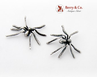 Figural Spider Earrings Sterling Silver