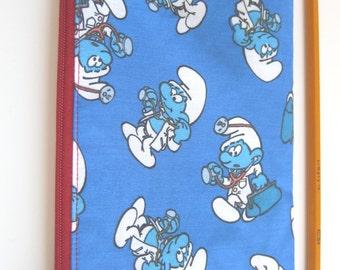 Smurfs // Smurf vintage cotton pouch // Pouch // Pencil case // Zipper pouch // Smurf bag // Gift