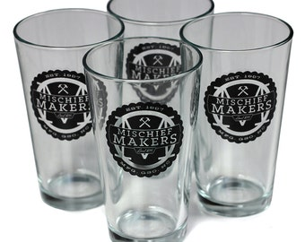Mischief Makers Local 816 Pint Glass - Set of 4 - by Home State Apparel
