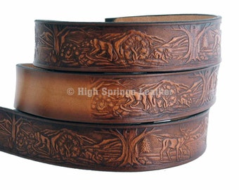 Wildlife Leather Name Belt