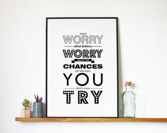 Art Inspirational Print, Typography Poster, Wall Art, Poster, Digital Print, Typography, Wall Decor, Downloadable Printable Motivational Art