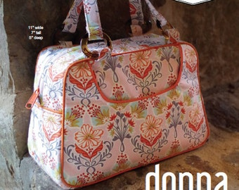 Swoon Patterns: Donna Vintage Handbag - PDF Bag Purse Handbag Sewing Pattern