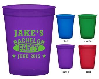 16 oz Bachelor Favor Translucent Cups (Clipart 6154) Bachelor Party - Bachelorette Party Favors - Bachelorette Party Cups - Party Cups