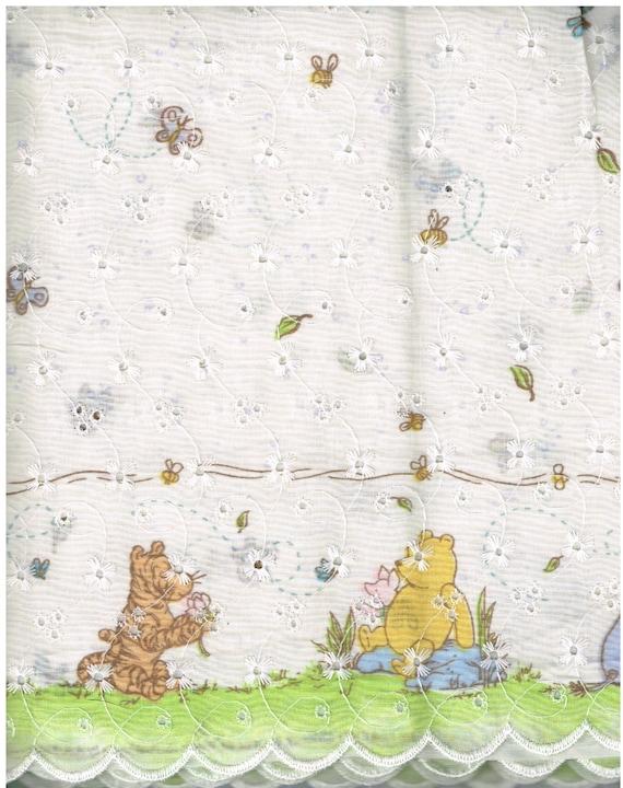 Nv183 Bthy 100 Cotton Eyelet Fabric Winnie The By