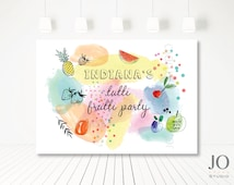 Tutti Frutti Themed / Candy Buffet / Sweet Table / Photobooth Printable Backdrop / Tutti Frutti Party
