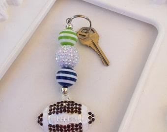 Seahawks inspired keychain