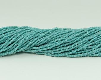 Czech Seed Beads, IRIS, Size 11/0, Green Turquoise
