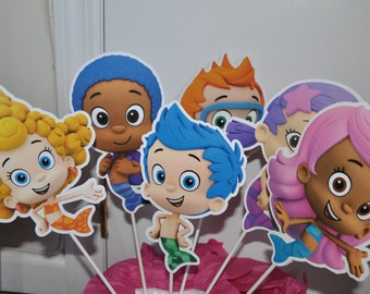 Bubble Guppies Large Centerpiece and Cake Topper set of 6