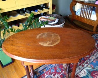Jenny Lind Antique Oval End Table