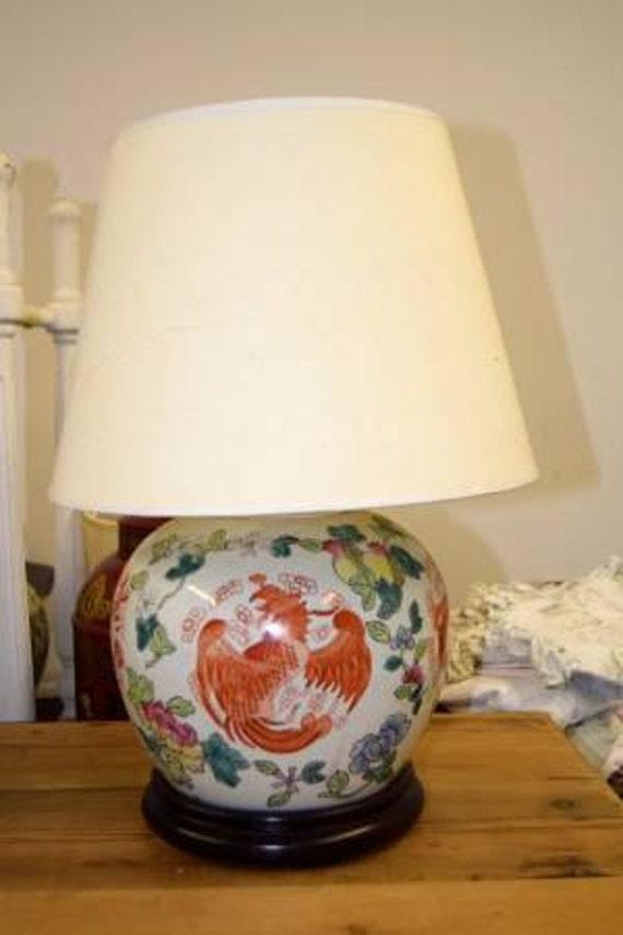 Vintage Asian Ceramic Lamp-Beautiful