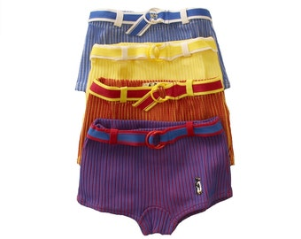 FRENCH vintage 70's / kids / boy / swimming trunks / 4 different colours available / new old stock / size 4/6 years