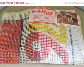 """On Sale, Bucilla,  Latch Hook Rug Canvas, Americana, No. 348, Size 28 x 40"""", USA, Rug Canvas, Spirit of 76, Vintage and NEW"""