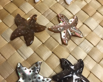 Pair of Starfish Mother of Pearl for Jewelry or decor