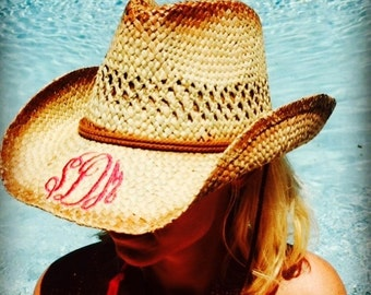 Monogrammed Cowboy Hat!  Must have for the summer!