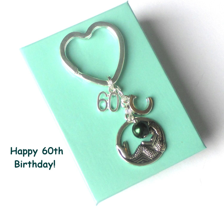 Personalised 60th Birthday Keyring