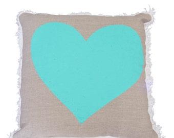 Sweet Loving Green Heart Cushion cover (50x50cm)