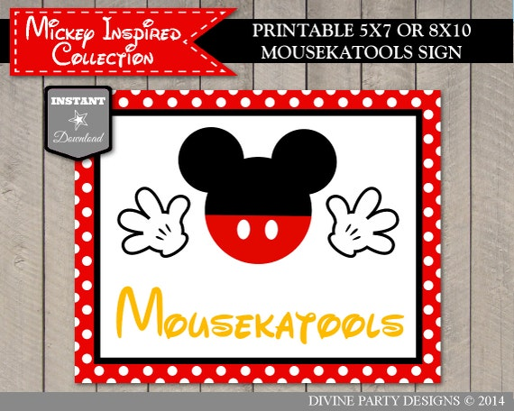 Crush image intended for free printable mickey mouse signs