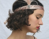 SALE  1920s Headpiece Great Gatsby Headband Great Gatsby Dress Flapper Dress Flapper headband $35.00 AT vintagedancer.com