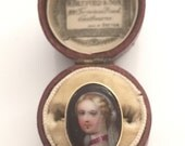19th Century  Painted Portrait Ring