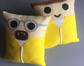 Breaking Bad Walter White and Jesse Pinkman Mini Felt Cushions