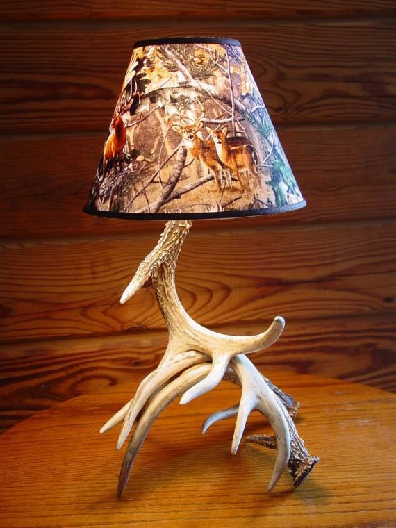 deer antler table lamp camo lamp shade deer antler table lamp price