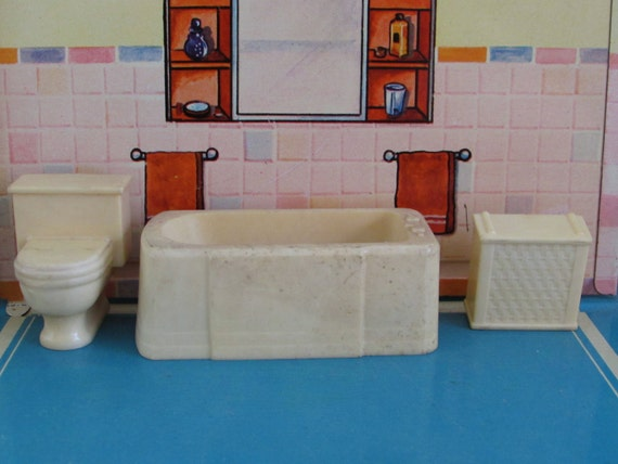 Popular Aliexpresscom  Buy 112 Miniature Dollhouse Bathroom Furniture Sets