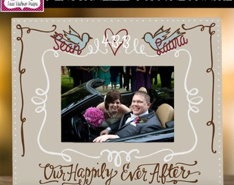 """PICTURE FRAME: 10x12 Personalized """"Our Happily Ever After"""" Picture Frame"""