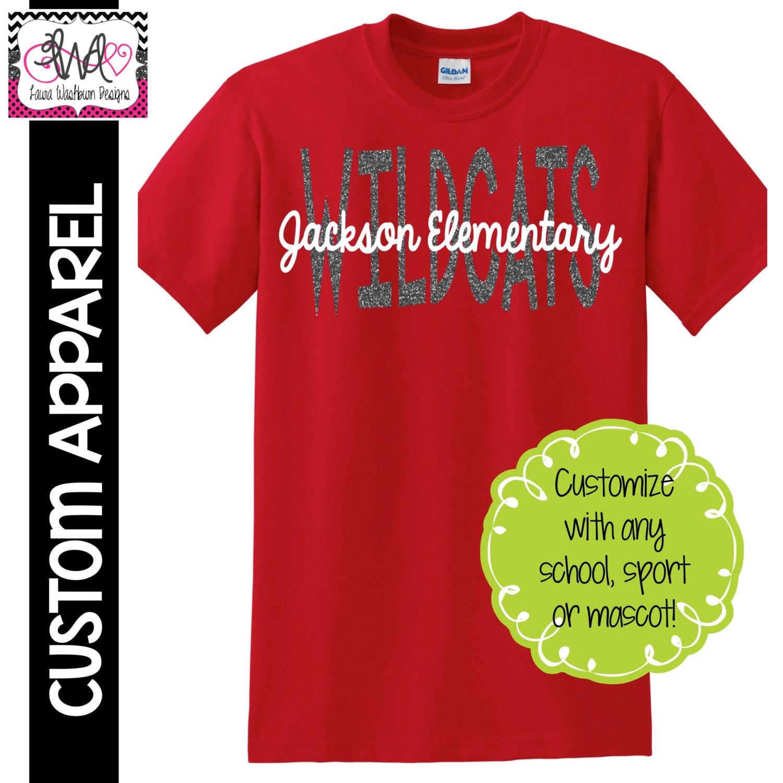 Custom Apparel Custom Mascot And School Name T Shirt