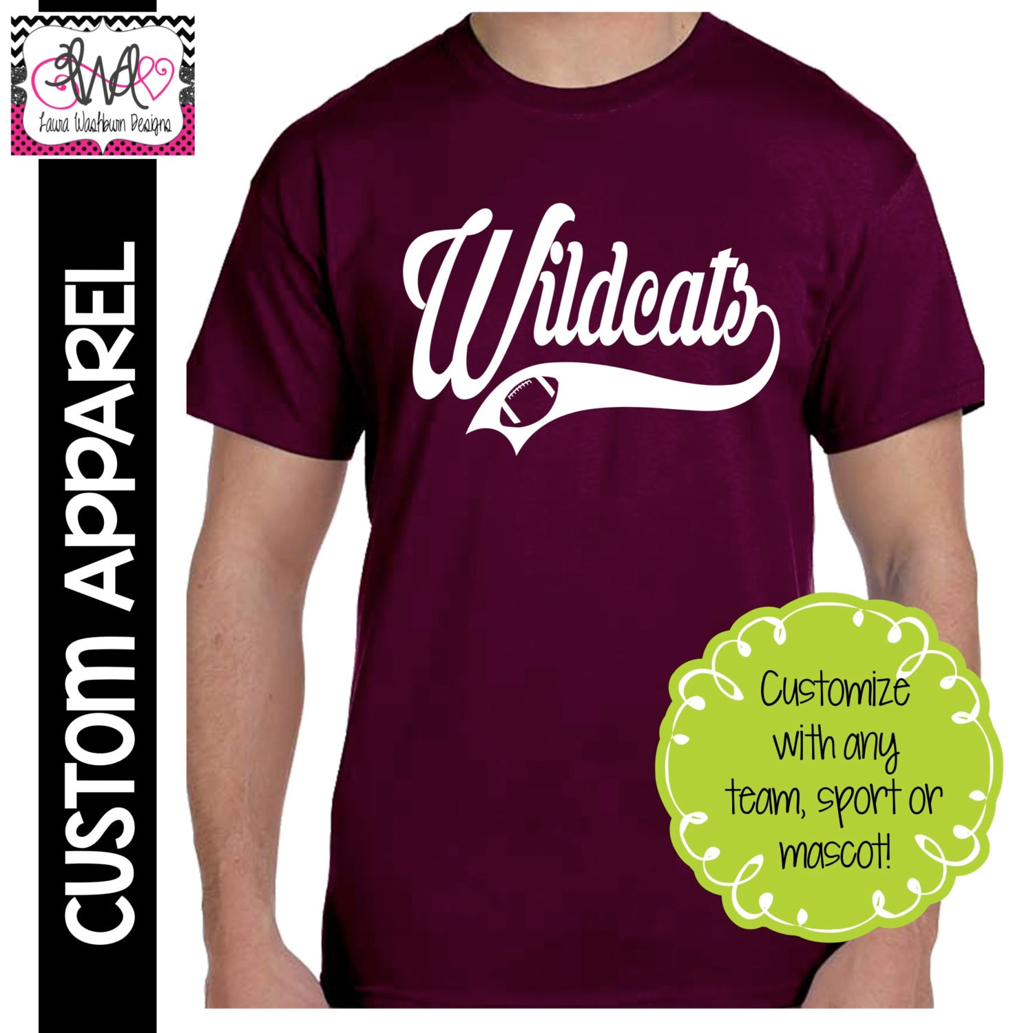 Custom Apparel Custom Team Sport Swoosh T Shirt Baseball