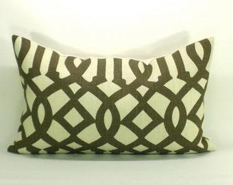 Imperial Trellis lumbar pillow cover in Java