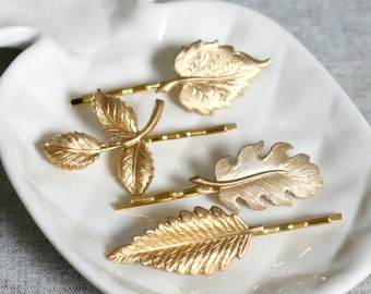Woodland Fauna Gold Bridal Hair Grips