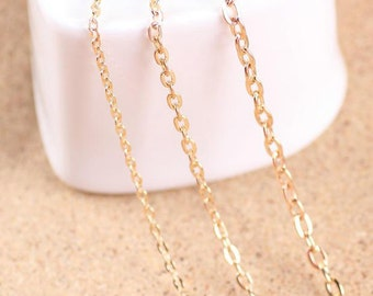 10 meters cable chain-gold or silver fine chain  oval-shaped O type chain 3x2mm