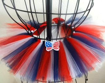 Baby 4th of July tutu, Girls July 4th tutu, Red white and blue tutu, Infant 4th of July tutu, Independance Day tutu, Fourth of July tutu