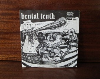Album LP vinyl record Spazz / Brutal Truth split ep / music Record / 45 Rpm / 7''inches / Music Vintage / Hardcore Trashcore