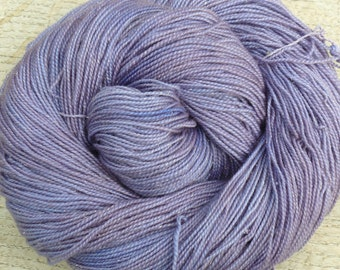 Hand Dyed SILVER Sock MERINO 4 ply 100 gms Silver Stellina Sparkle 'Fairy Dust!' Mollycoddle Yarns