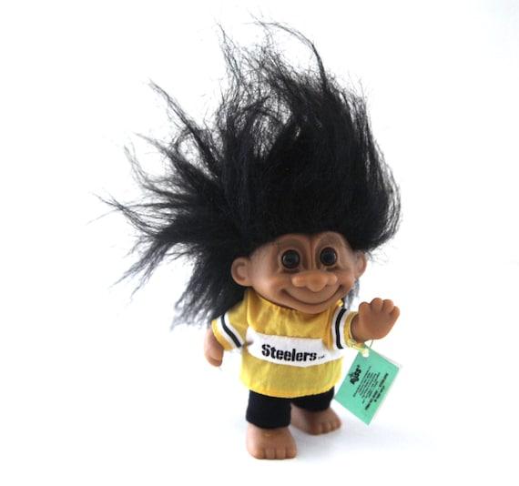 Vintage 90s Russ Troll Doll Pittsburgh Steelers Football