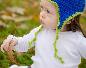 Child's Blueberry Ear Flap Hat