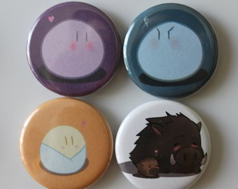 Clannad Dango Family and Botan (Button/Magnet)