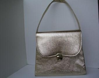 Vintage Metallic Gold Purse