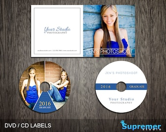 CD Cover Template - Cd Label Template - Dvd Cover Template PSD - Dvd Label Template - Cd Case Photoshop PSD Template CD001