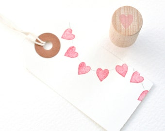 Tiny Heart -  Hand Carved Rubber Stamp by Little Stamp Store