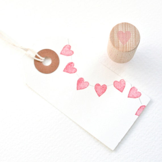 Tiny Heart - Heart Stamp - Wedding Invitations - Wedding Favours - Wedding Stamp - Stamp - Hand Carved Rubber Stamp by Little Stamp Store