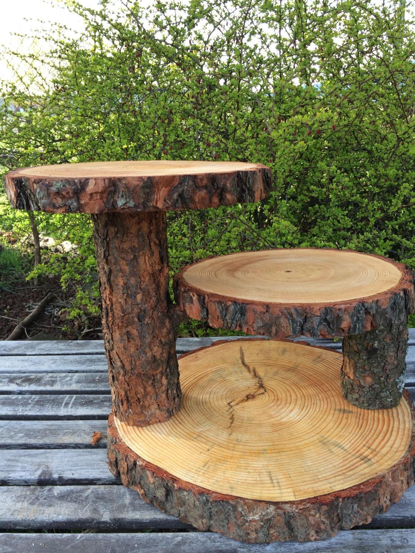 Wooden log wedding