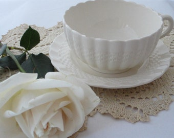 Shabby Chic Cup & Saucer, Copeland Spode, Older Backstamp, Vintage English China, Vintage Cup and Saucer, Cottage Chic